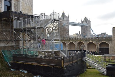 UK SYSTEM SCAFFOLD'S HAKI PAS SYSTEM TAKES HEAVY FOOTFALL IN ITS STRIDE AT TOWER