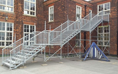 Fire escape for Primary School Derby