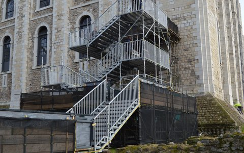 Temporary public access stairtower at The Tower of London