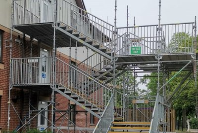 UKSSH IS PREMIER CHOICE FOR TEMPORARY FIRE ESCAPE